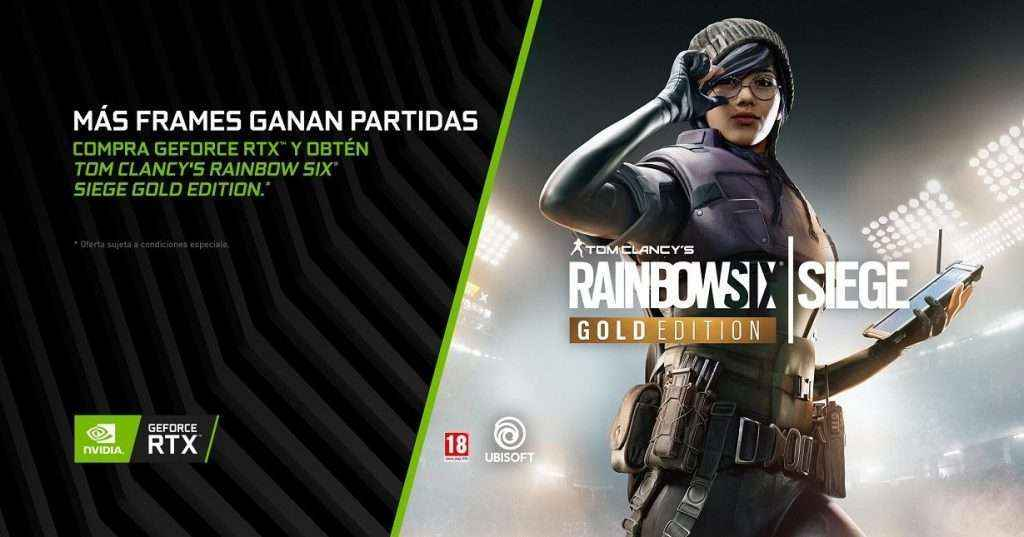 El Mega-Hit 'Tom Clancy's Rainbow Six Siege' incluído con las gráficas GeForce RTX
