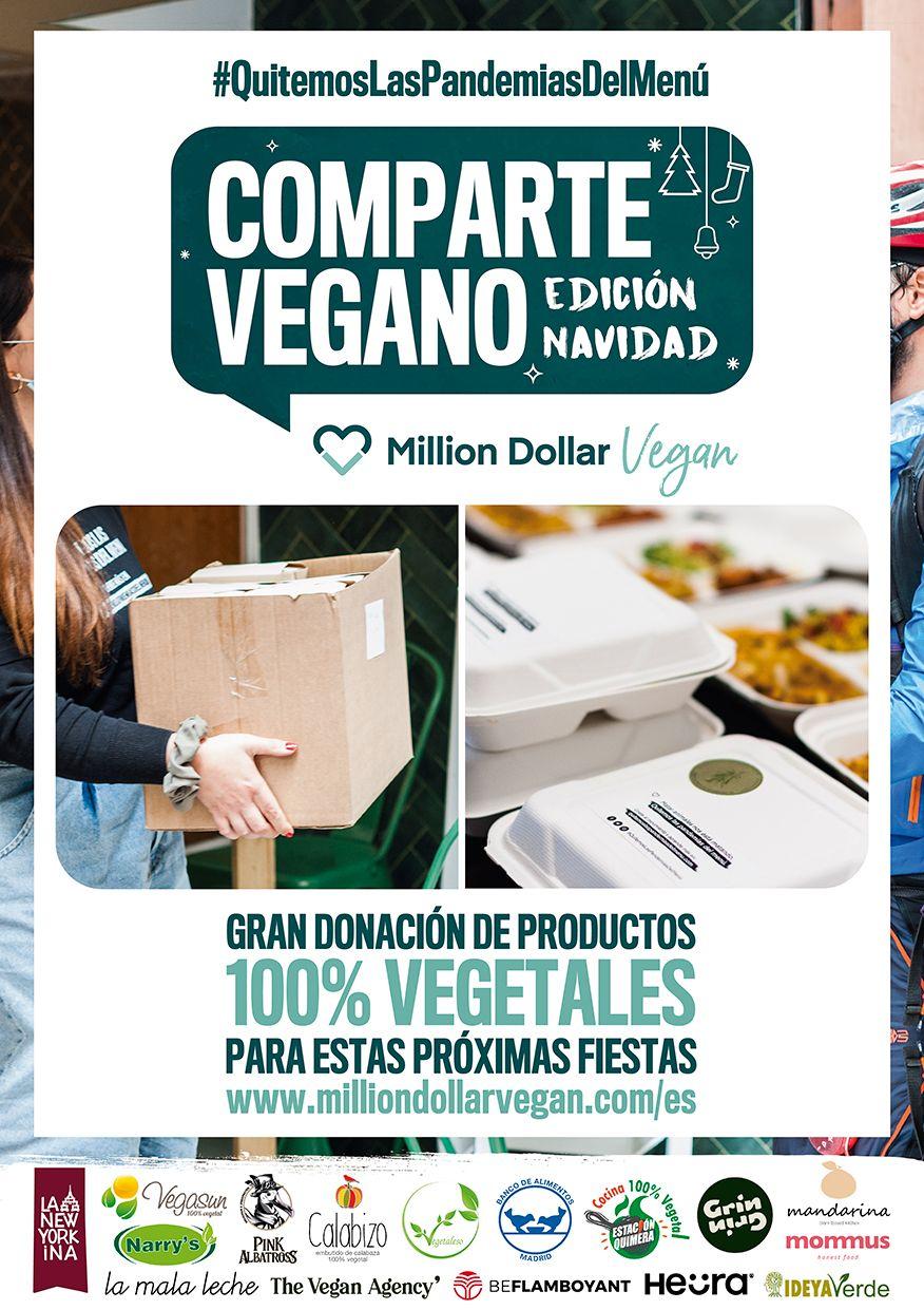 Comparte Vegano: Un mes de actividades solidarias organizadas por Million Dollar Vegan